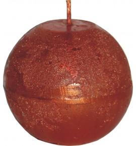 RUSTIC D80 MIEDZIANY  - świeca metallic bezzapachowa