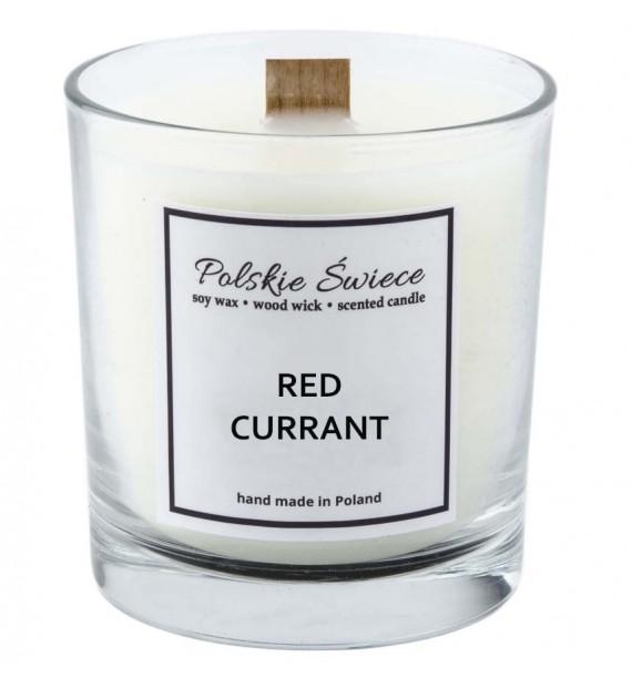 RED CURRANT - Świeca sojowa z drewnianym knotem VIVAT