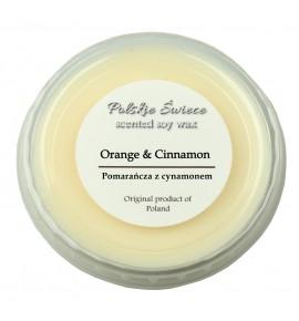 Orange & cinnamon - wosk SOJOWY zapachowy 30g