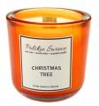 CHRISTMAS TREE - Świeca sojowa z drewnianym knotem hevy orange