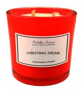 CHRISTMAS DREAM - Świeca sojowa z drewnianym knotem hevy12 red