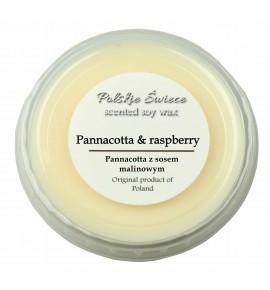 Pannacotta & Raspberry - wosk SOJOWY zapachowy 30g