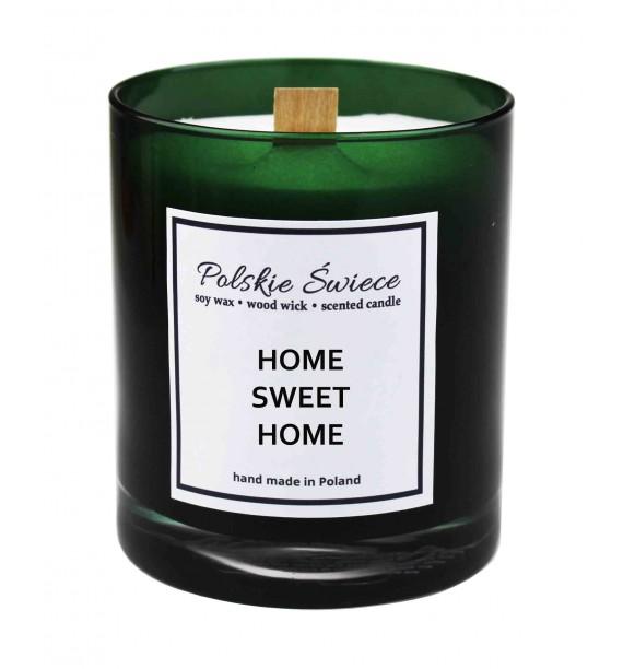 HOME SWEET HOME - Świeca sojowa z drewnianym knotem Green