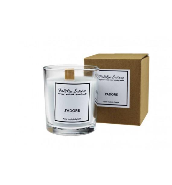 J'Adore Naturalna świeca zapachowa- drewniany knot