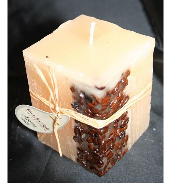 KAWA 65/65/90 KREM - świeca zapachowa z ziarnami kawy