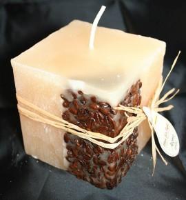 KAWA 100/100/100 KREM - świeca zapachowa z ziarnami kawy