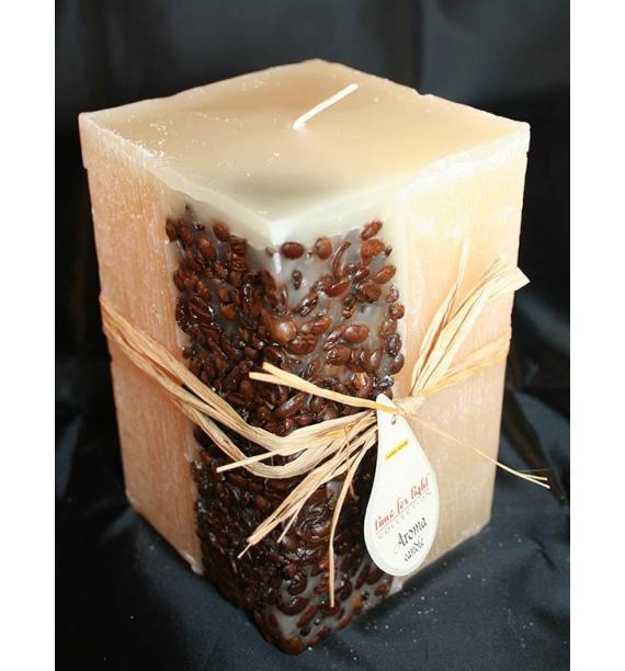 KAWA 100/100/150 KREM - świeca zapachowa z ziarnami kawy
