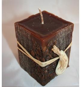KAWA 65/65/90 BRĄZ - świeca zapachowa z ziarnami kawy