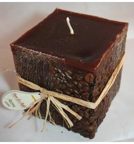 KAWA 100/100/100 BRĄZ - świeca zapachowa z ziarnami kawy