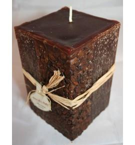 KAWA 100/100/150 BRĄZ - świeca zapachowa z ziarnami kawy