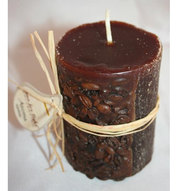 KAWA 70/90 BRĄZ - świeca zapachowa z ziarnami kawy