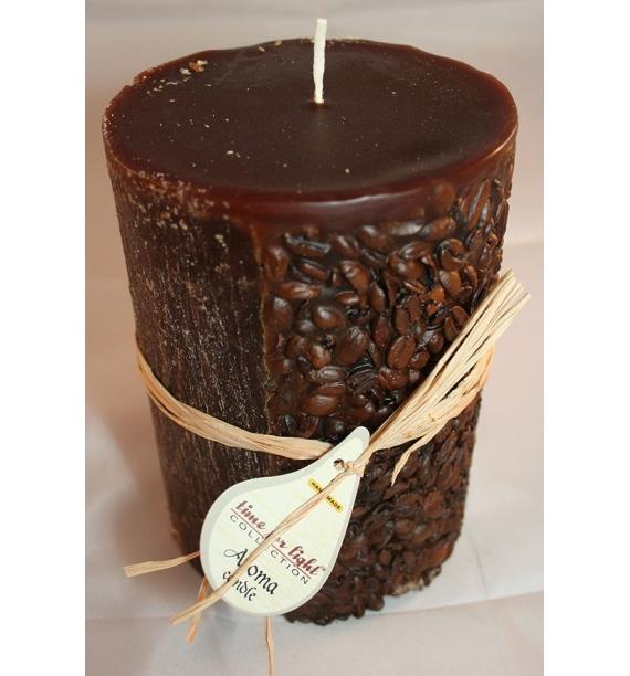 KAWA 100/150 BRĄZ - świeca zapachowa z ziarnami kawy