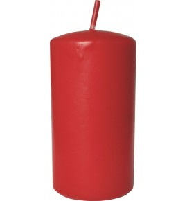 WALEC 50/90 CZERWIEŃ - klasyczna świeca bezzapachowa