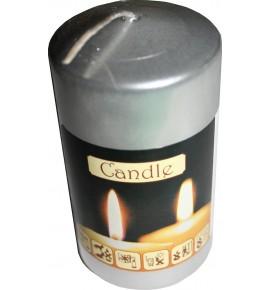 WALEC 50/90 SREBRNY - klasyczna świeca bezzapachowa