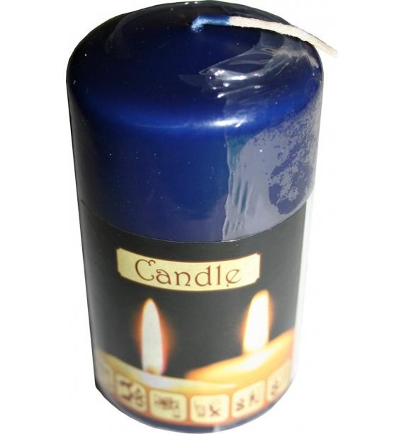 WALEC 50/90 GRANAT - klasyczna świeca bezzapachowa