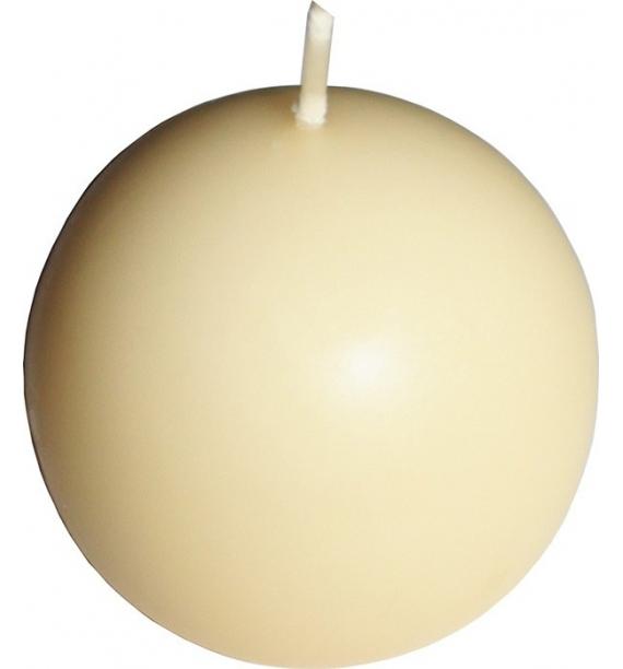 KULA D60 ECRUE - klasyczna świeca bezzapachowa