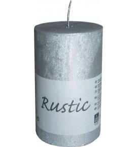 RUSTIC 60/100 SREBRNY - świeca metallic bezzapachowa