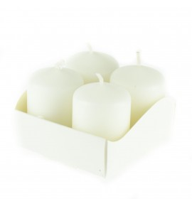 WALEC 40/60 BIAŁY 4szt. - klasyczna świeca bezzapachowa