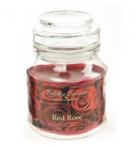 RED ROSE - świeca zapachowa w słoiczku