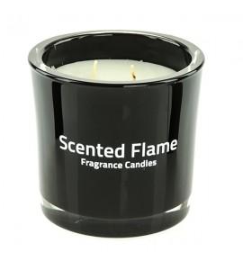 Scented Flame (Czarny) - duża świeca zapachowa w szkle