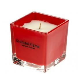 Scented Flame (Czerwony) - średnia świeca zapachowa w szkle 8/8/8