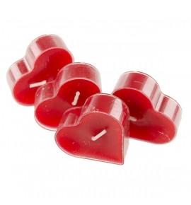 Serce Red Rose 4szt. - podgrzewacze kształty zapachowe