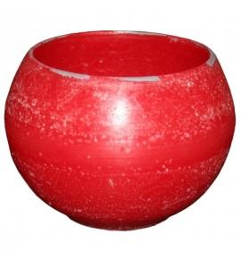 Kula D140 Czerwień - lampion parafinowy