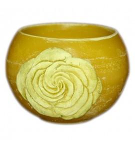 """Kula Żółty """"Kwiat Róży"""" D120 - lampion parafinowy"""