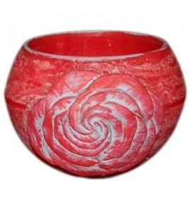 """Kula Czerwona """"Kwiat Róży"""" D120 - lampion parafinowy"""