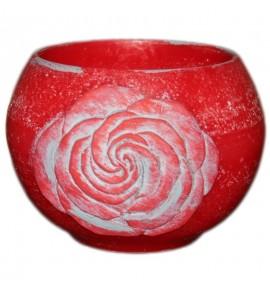 """Kula Czerwona """"Kwiat Róży"""" D140 - lampion parafinowy"""
