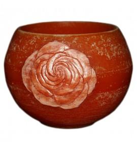 """Kula Pomarańcz""""Kwiat Róży"""" D140 - lampion parafinowy"""