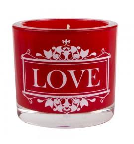 Love (Czerwona) - świeca zapachowa w szkle