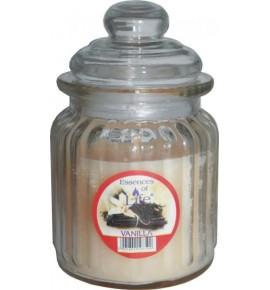 VANILLA - świeca w słoju w prążki