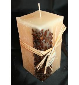 KAWA 65/65/140 KREM - świeca zapachowa z ziarnami kawy