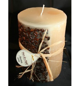 KAWA 70/90 KREM - świeca zapachowa z ziarnami kawy