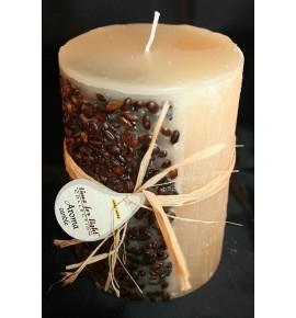 KAWA 100/150 KREM - świeca zapachowa z ziarnami kawy